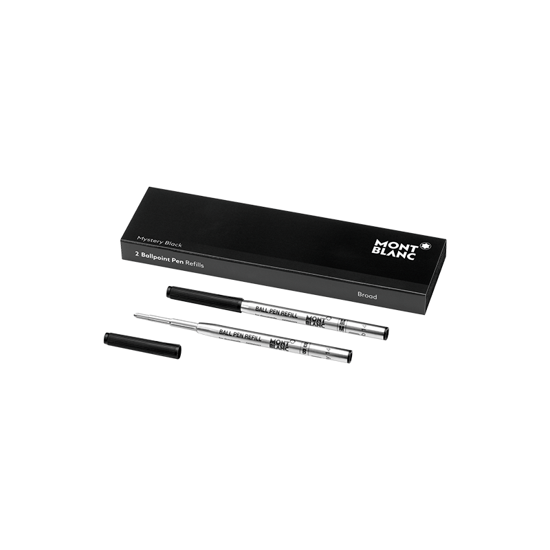 Recharge Stylo Bille Montblanc - Couleur : Mystery Black - Taille B