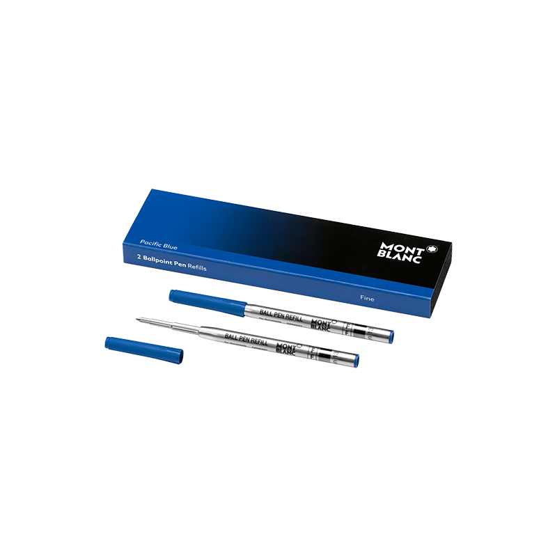 Recharge Stylo Bille Montblanc - Couleur : Pacific Blue - Taille : Fin