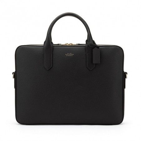 Porte Documents Slim Smythson - Panama Noir