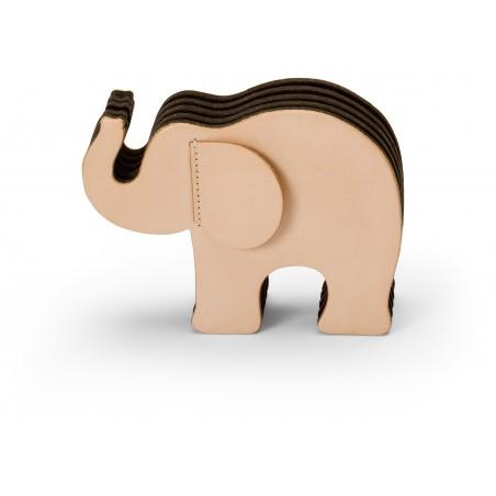 Eléphant en cuir de veau...
