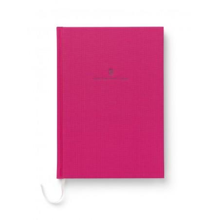 Cahier relié en lin A5,  rose