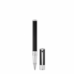 Stylo Roller ST Dupont D-Initial Noir & Chrome