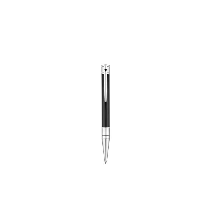 Stylo Bille ST Dupont - D-Initial Noir & Chrome
