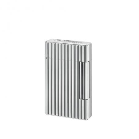 Briquet ST Dupont Initial Ligné Bronze Blanc