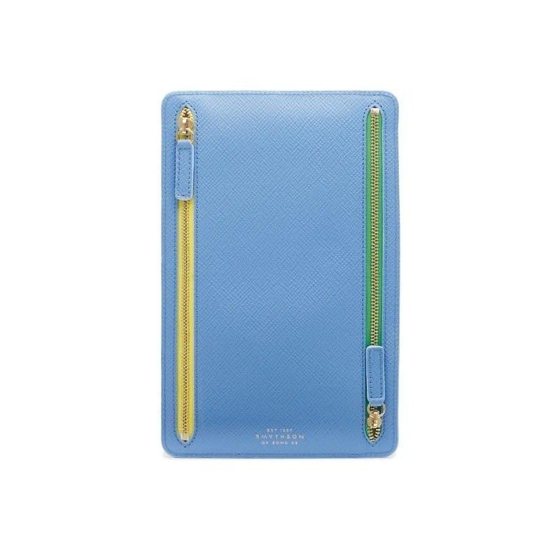 Étui À Devises Smythson - Panama Bleu Du Nil